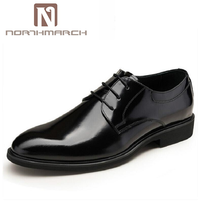 NORTHMARCH Designer Luxury Brand Wedding Derby Shoes Man Patent Leather Black Oxford For Men Formal Mariage Mens Dress Shoes zapato oxford azul formal wedding men shoes mens summer dress black pointed shoes chaussure homme new brand men leather flats