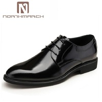 NORTHMARCH Designer Luxury Brand Wedding Derby Shoes Man Patent Leather Black Oxford For Men Formal Mariage Mens Dress Shoes