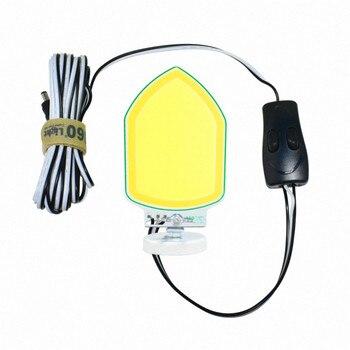 360 Light 120W Tongkol LED Camping Lampu dengan Magnet Batang Teleskopik untuk Perjalanan Self-Drive Pemeliharaan Kendaraan lampu Outdoor