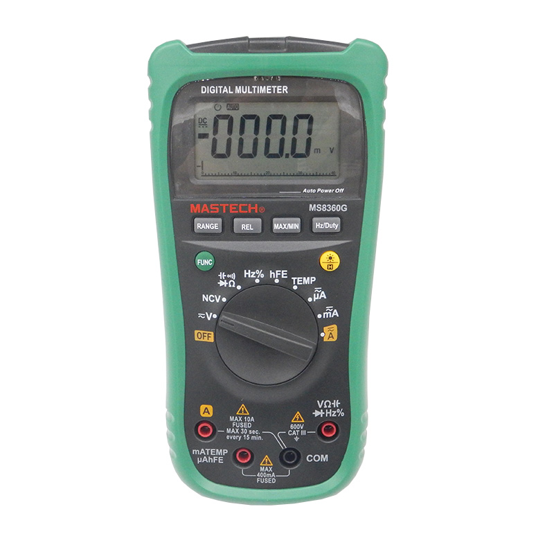 Newest MASTECH Digital Multimeter MS8360G Auto Range ohm voltage current Capacitance Frequency Temperature Meter upgrade MS8260G mastech ms8226 handheld rs232 auto range lcd digital multimeter dmm capacitance frequency temperature tester meters