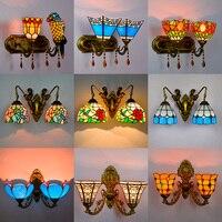 Современный Средиземноморский настенный светильник 110 V 220 V восемь вариантов светодио дный светодиодный настенный светильник Проходная ле