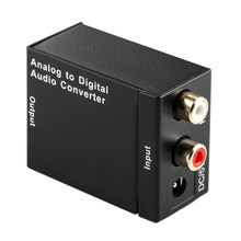 Digital Ke Analog Konverter Audio Optik Digital Coaxial RCA TOSLINK untuk Sinyal Analog Konverter Audio Home Theater untuk DVD TV(China)