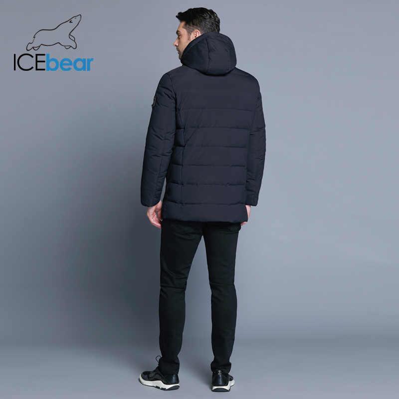 ICEbear 2019 ז 'קט עם בד באיכות גבוהה להסרה כובע לזכר של חם מעיל פשוט mens מעיל MWD18945D