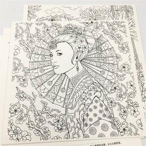 Image 2 - Fantasia libro para colorear clásico para adulto, para chico libro para colorear, pintura antiestrés, dibujo, Graffiti, libros de arte pintados a mano, libro de colorear