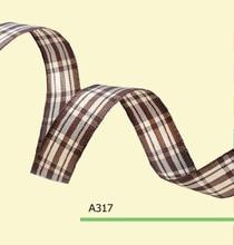 100yards roll 3 8 Inch 10mm Scottish Tartan Plaid Ribbon For Clothing