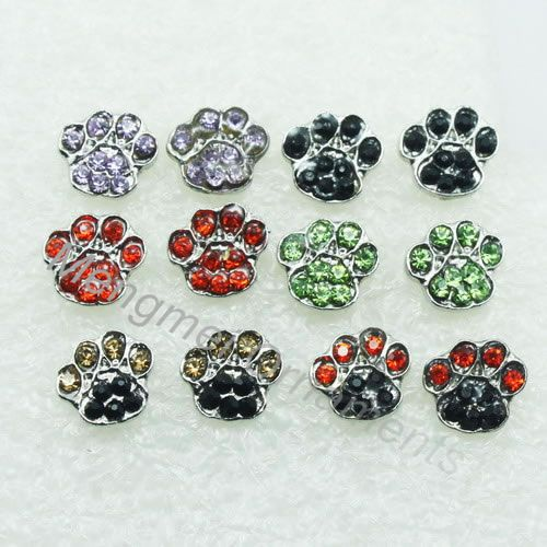 10pairs Crystal Rhinestone Cat Dog Paw Print Post Stud Fashion Earring Animal Jewelry Earrings Free Shipping In From Accessories On