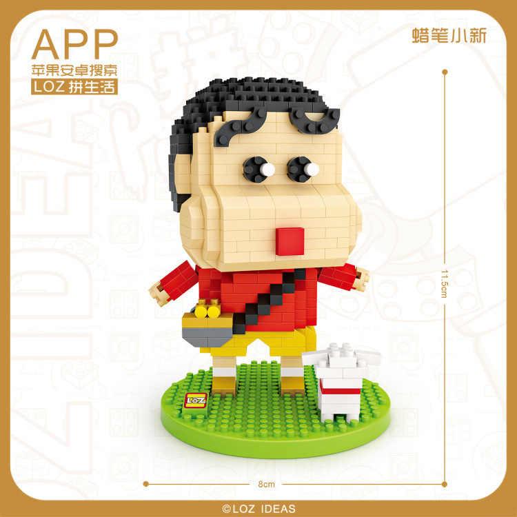 2018 nouveau LOZ Mini blocs dessin animé briques de construction pour enfants jouet film Crayon shin-chan licorne modèle enfants cadeaux éducatifs
