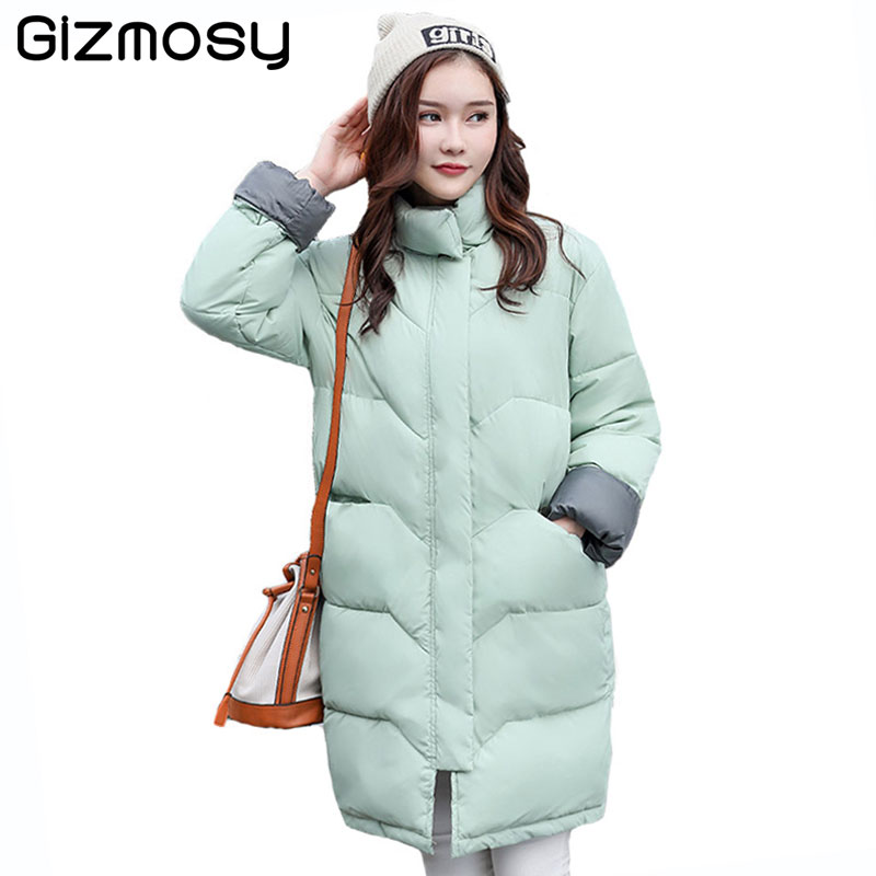 2017 New Winter Jacket Women Long Warm Parka Coats Plus Size Cotton Padded Winter Coat Women Jaqueta Feminina Inverno BN1557