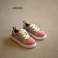 2016 Autumn New Brand Kids Shoes Fashion Girls Canvas Shoes Student Flat Boys Loafers Sneakers Toddler