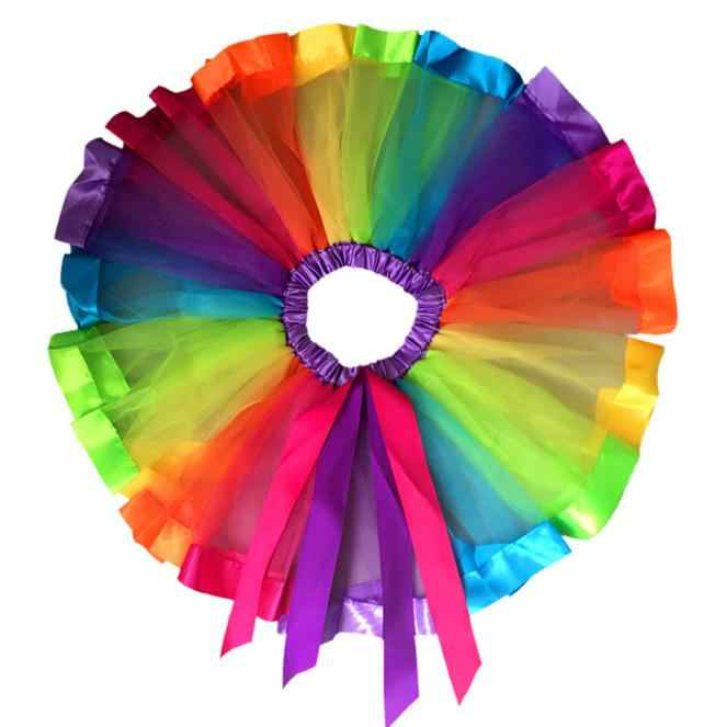 New Qualified Pet Girls Kids Petticoat Rainbow Pettiskirt Bowknot Skirt Tutu Skirts Dancewear Levert Dropship Dig#30