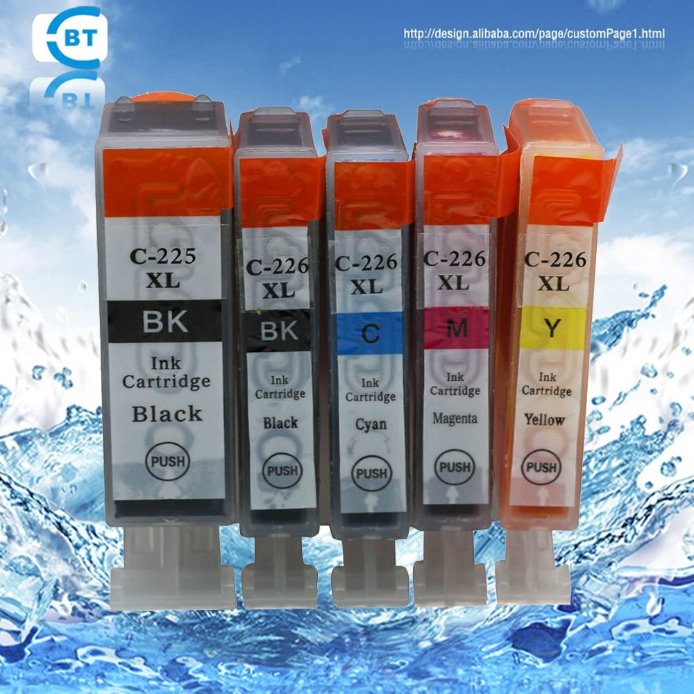 5 STK Kompatibel pgi225bk cli226 blekkpatron for CANON PIXMA MX882 IP4820 IP4920 IX6520 MG5120 MG5220 MG5320 skriver