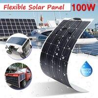 Для дома на колесах Лодка 100 Вт 18 В полу гибкие Панели солнечные решетки моно кремния Водонепроницаемый 23.5% эффективность супер тонкий дизай