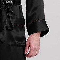 lilysilk халат мужской 22 momme длинным рукавом углового полная длина шелковый халат для сна 2016 китайский традиционный кимоно ограничители домашняя одежда