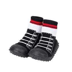 Детская Хлопковая обувь, нескользящие носки-тапочки, детские носки с цветочным принтом на резиновой подошве, mr001