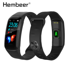 цена на New Black Clock Smart Watch Wristband Heart Rate Monitor Fitness Bracelet Waterproof Smart Band for iOS Android pk mi band 4