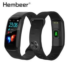 цена на New Black Clock Smart Watch Wristband Heart Rate Monitor Fitness Bracelet Waterproof Smart Band for iOS Android pk mi band 4