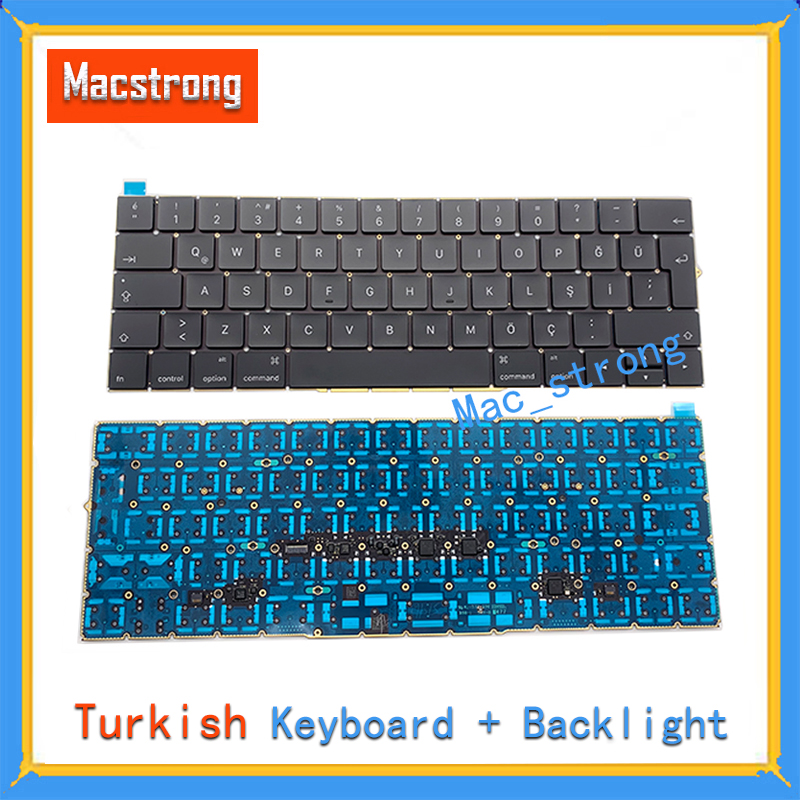 Brand New Original 13 A1706 Keyboard 15 A1707 Turkish Keyboard For Macbook Pro Retina 12A1534 With Backlight 2016 2017 image