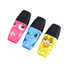 Stabilo Highlighter Kawaii Cartoon Marcadores Mini Color Oblique Highlighter Marker Pen Set Stationery Destacador Papeleria