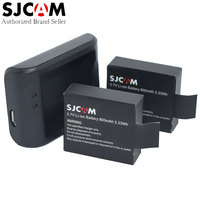 2 Pcs Original SJCAM Action Camera Battery 1 Pcs Desktop Charger For SJ4000 SJ4000 WIFI SJ5000