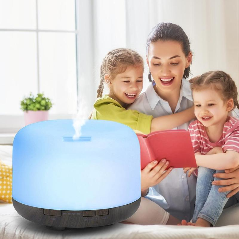 500ml Air Humidifier Ultrasonic Humidifier Timing Aroma Diffuser Mist Maker Fogger Sprayer Air Purifier Cleaner for Home Office gxz 500ml aroma diffuser bluetooth speaker ultrasonic night lights air humidifier timing mist maker mini desktop air purifier