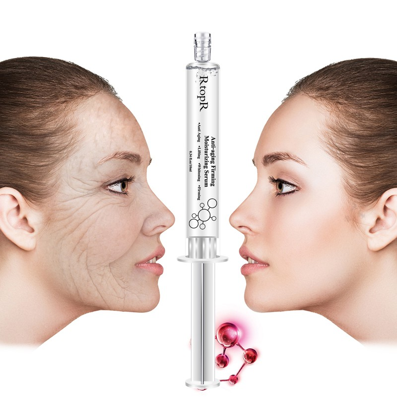 Moisturizing Whitening Face Hyaluronic Acid Injection Serum Liquid Tights Anti-Wrinkle Anti Aging Collagen Facail Essence