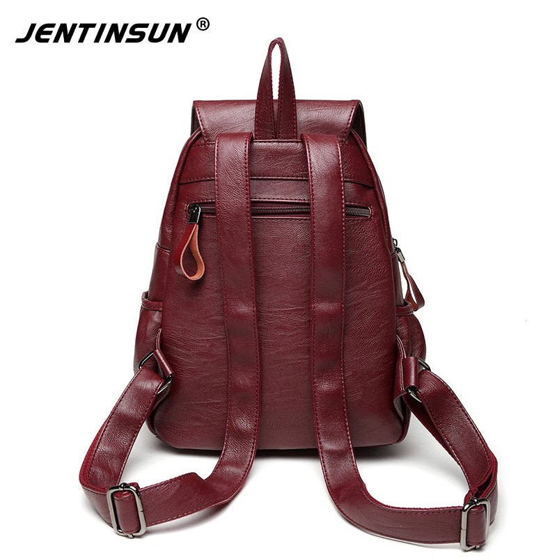 Famous Brand Sheepskin Bags Women Leather Backpack Shoulder Top-Handle Bags Anti theft Backpack Travel Bag For Girls Leisure