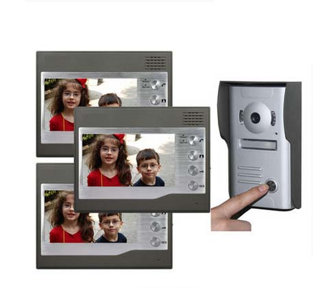 ZHUDELE Home CCTV 7 Inch Color TFT LCD Video Doorphone Door Bell Intercom IR Outdoor Cam ...