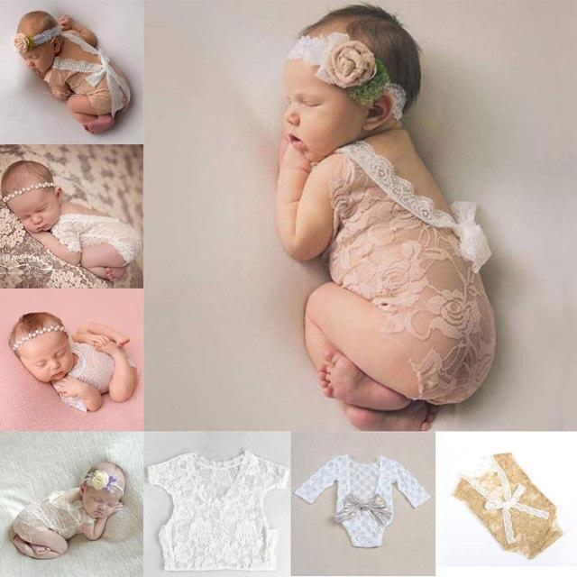9317fc5705c13 Accesorios para fotografía de recién nacido bebé niña Niño Accesorios de  encaje ropa linda carters disfraz