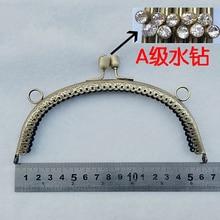 17cm rose flower carved DIY purse frame bag metal clasp hardware accessories mouth golden 3pcs/lot