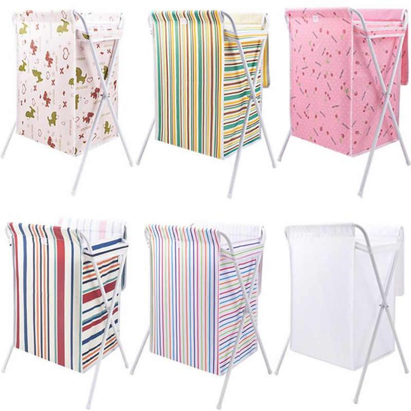 Tecido dobrável saco de roupa suja cesto de roupa suja com tampa Para Sundries Brinquedo do banheiro rack de armazenamento de roupas organizador casa