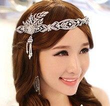 Envío gratis 2015 nueva moda Coreana Gran Gatsby joyería de la boda accesorios para el cabello nupcial corona de la tiara