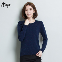 Quality 100% O Neck Cashmere Sweater Long Sleeve Women's Cashmere Sweater Plus Size Pullover Jumper 2019 Spring Autumn Knitwear