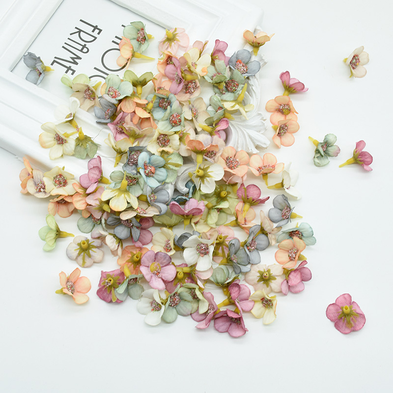 50pcs MINI Silk Daisy Multicolor Fake Artificial Flower For Christmas And Home Decor 5