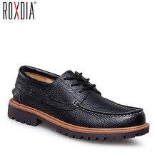 Driver Shoe Loafers Flat Male Waterproof Men Genuine-Leather Brand Work ROXDIA RXM059
