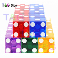 5piece T G Dice 19mm High Grade Acrylic Precision Dice Transparent Dice Six Sided Casino Sharp