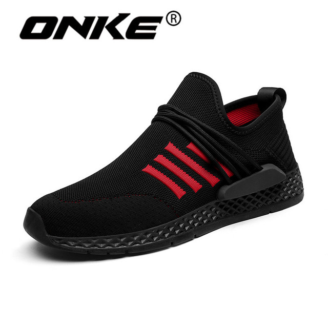 2018 Top Brand Sports Man Sneakers Breathable Flyknit Mens Running Shoes  Damping Athletic Trainers Good Quality Jogging Shoes 0a7a2d19596