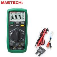 1pcs Mastech MS8221C Digital Multimeter Auto Manual Ranging DMM Temperature Capacitance HFE Test Wholesale