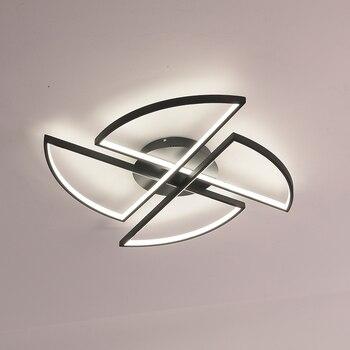光沢のシャンデリアの照明のベッドルーム近代アルミ波シャンデリア照明表面実装天井シャンデリア