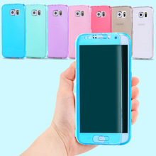 S6 Edge Soft TPU Cases Fashion Flip Silicone Clear Case For Samsung Galaxy S6 Edge S6 S7 Edge S7 Full Body Transparent Cover
