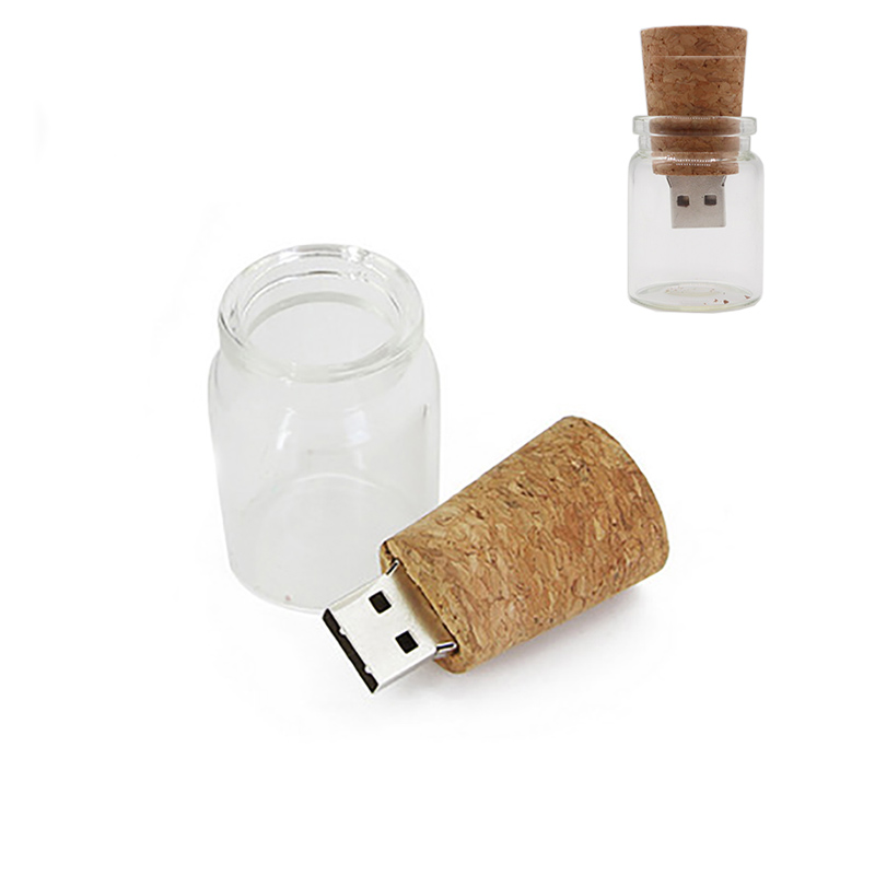 USB Stick Glass Drift Wishing Bottle Pen Drive 4GB 8GB 16GB 32GB 64GB Pendrive Memory Stick Personalized Gift Usb Flash Drive