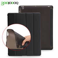 For Ipad 2 3 4 Smart TPU Soft Case Ultra Slim PU Leather Cover Flip Back