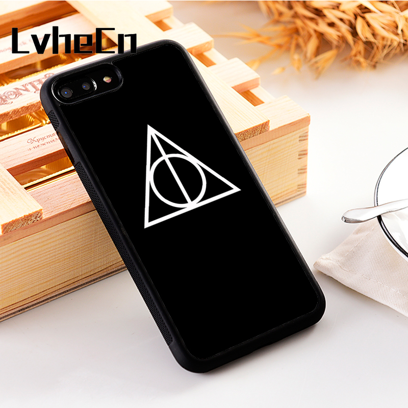 LvheCn 5 5S SE phone cover <font><b>cases</b></font> for <font><b>iphone</b></font> 6 6S 7 <font><b>8</b></font> Plus X Xs Max XR Soft Silicon TPU <font><b>HARRY</b></font> <font><b>POTTER</b></font> SIMPLE SYMBOL image