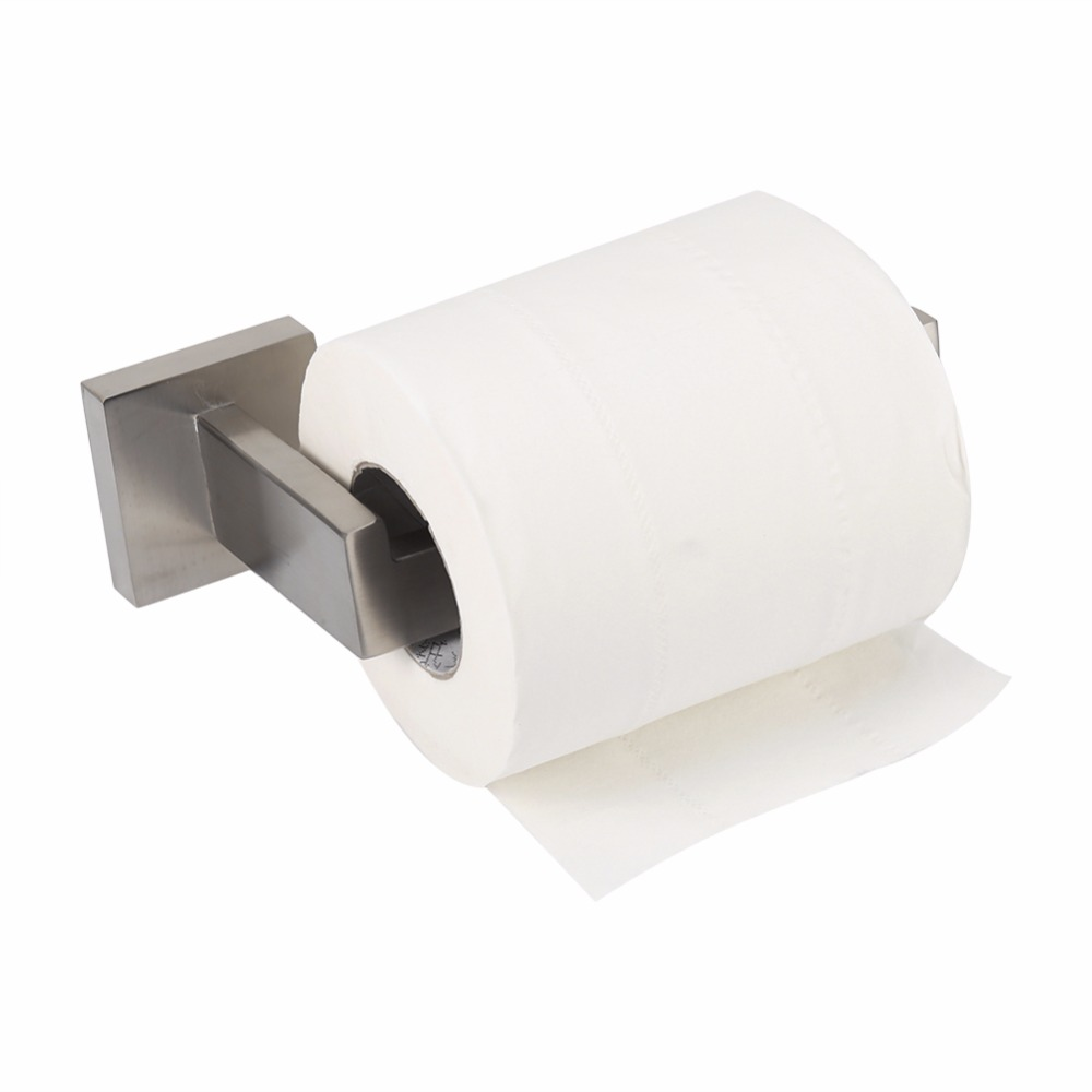 Towel holders for bathrooms wall - New Hot 304 Stainless Steel Bathroom Toilet Paper Roll Holders Bathroom Toilet Wall Mount Paper Holder Towel Home Accessories