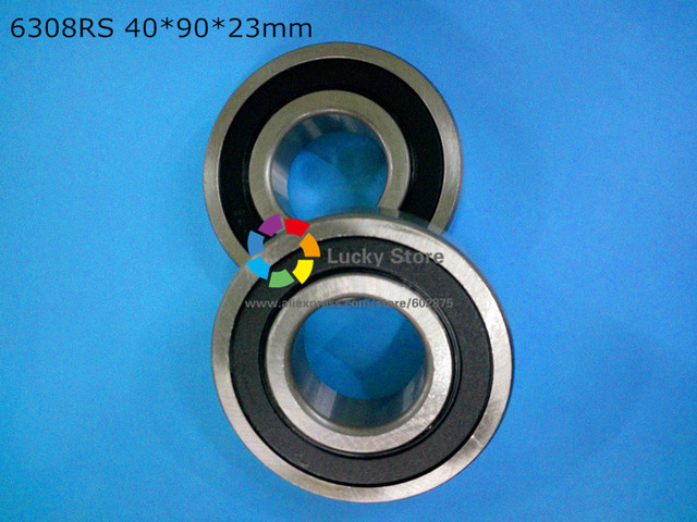 6308RS 1Piece bearing free shipping 6308 chrome steel deep groove bearing 6308 6308RS 40*90*23 mm