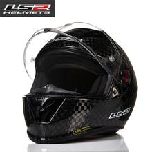 100% Genuine LS2 FF323 latest carbon fiber top racing full face motorcycle helmet