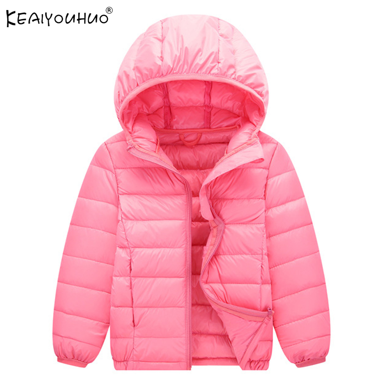 KEAIYOUHUO 2017 New Winter Girl Coats Hooded Warm Boy Down Jackets For Girls Clothes Long Sleeve Kids Outerwer Children Clothing boy winter coats hot sales children clothing thickening hooded cotton jackets fashion warm baby boy coats clothes outerwear kids
