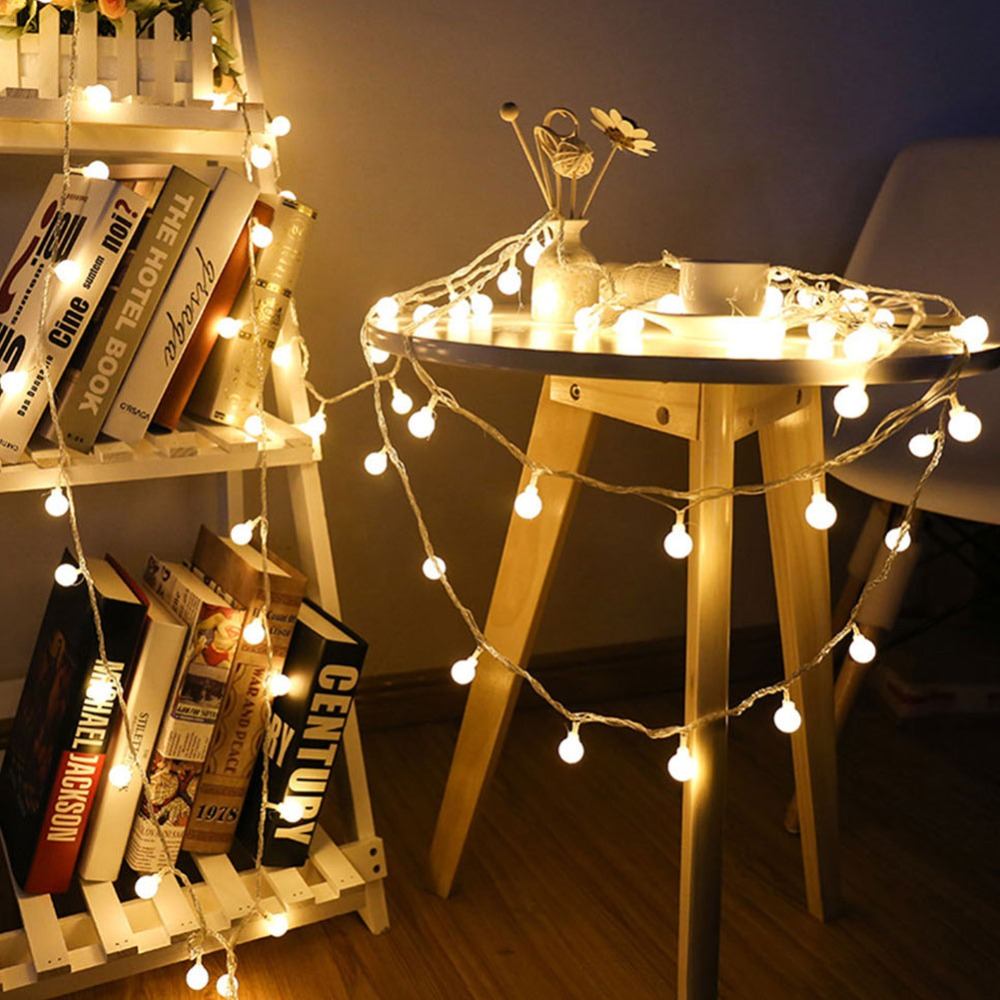 1.5M 3M 6M Fairy Lights Garland LED Bulb String Lights Waterproof Christmas Tree Hanging For Wedding Party Holiday Ligthing