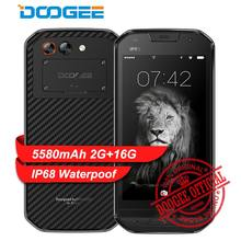 "DOOGEE S30 IP68 Waterpoof Smartphone Dual Rear camera 5580mAh Quick Charge 5.0"" HD MTK6737 Android 7.0 2GB+16GB 8MP fingerprint(China)"