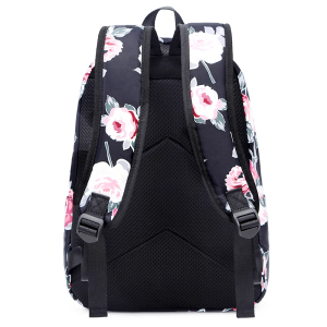 Image 5 - Fengdong 3pcs/set school bags for teenage girls rose flower printing school backpack set kids floral book bag travel backpack