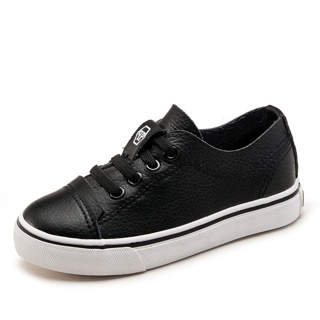 Kids Girls Single Leather Shoes Toddler Boys Casual Solid Lightweight Soft Students  Sneakers Canvas Shoes tenis menino b925faec40e2